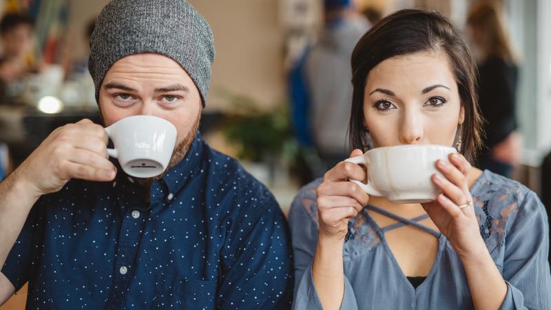coffee choice on a date